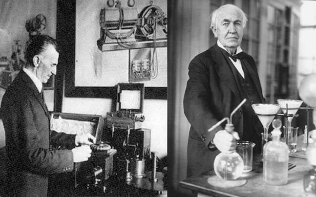 Nikola Tesla e Thomas Edison